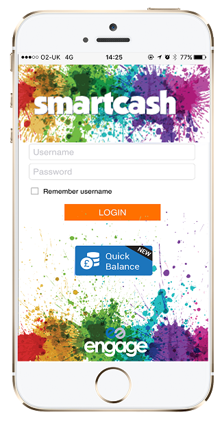 Mobile phone app for Smart Cash Card